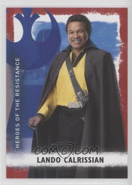 2020 Topps Star Wars Rise of Skywalker Series 2 - Heroes of the Resistance - Red #HR-9 - Lando Calrissian /99