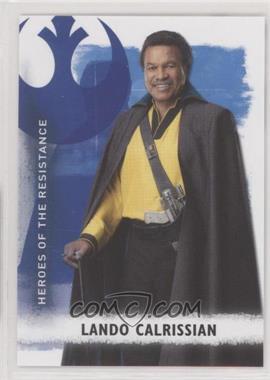 2020 Topps Star Wars Rise of Skywalker Series 2 - Heroes of the Resistance #HR-9 - Lando Calrissian
