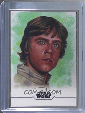 2020 Topps Star Wars: Stellar Signatures - Sketch Reprints #2 - Luke Skywalker (Louise Draper) /100