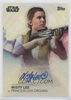 Misty Lee as Princess Leia Organa
