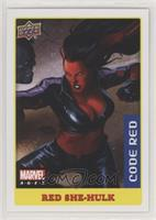 Low Series Stickers - Red She-Hulk