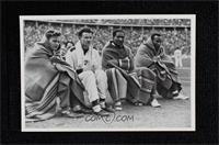 Frank Wykoff, Paul Hanni, Ralph Metcalfe, Jesse Owens