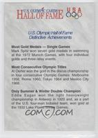 U.S. Olympic Hall of Fame Distinctive Achievements