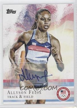 2012 Topps U.S. Olympic Team and Olympic Hopefuls - [Base] - Autographs [Autographed] #66 - Allyson Felix