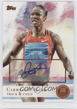 2012 Topps U.S. Olympic Team and Olympic Hopefuls - [Base] - Bronze Autographs [Autographed] #62 - Carmelita Jeter /50
