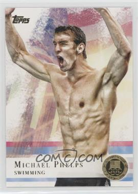 2012 Topps U.S. Olympic Team and Olympic Hopefuls - [Base] - Gold #100 - Michael Phelps