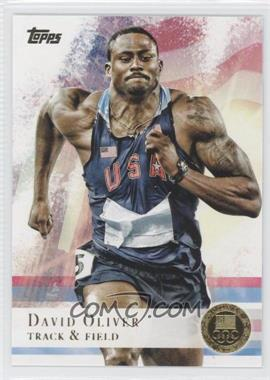 2012 Topps U.S. Olympic Team and Olympic Hopefuls - [Base] - Gold #21 - David Oliver