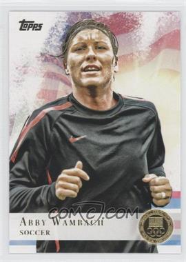 2012 Topps U.S. Olympic Team and Olympic Hopefuls - [Base] - Gold #93 - Abby Wambach