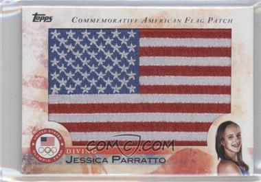 2012 Topps U.S. Olympic Team and Olympic Hopefuls - Commemorative American Flag Patch #FLP-JP - Jessica Parratto
