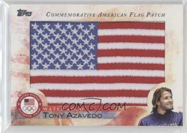 2012 Topps U.S. Olympic Team and Olympic Hopefuls - Commemorative American Flag Patch #FLP-TA - Tony Azavedo