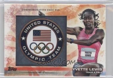 2012 Topps U.S. Olympic Team and Olympic Hopefuls - Commemorative USOC Pin #PIN-YL - Yvette Lewis