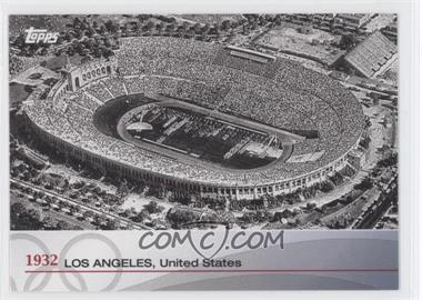 2012 Topps U.S. Olympic Team and Olympic Hopefuls - Heritage of the Games #OH-X - 1932 - Los Angeles, United States