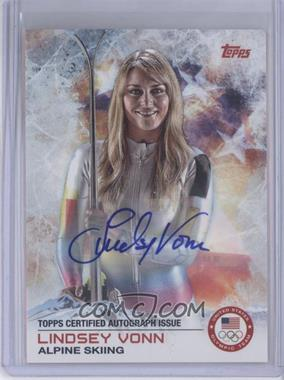 2014 Topps U.S. Olympic & Paralympic Team and Hopefuls - [Base] - Autographs [Autographed] #88 - Lindsey Vonn