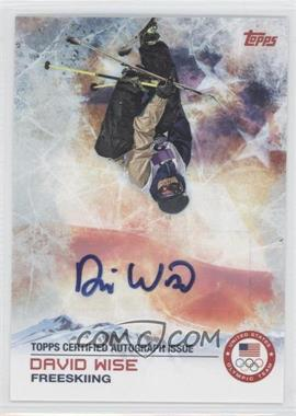 2014 Topps U.S. Olympic & Paralympic Team and Hopefuls - [Base] - Autographs [Autographed] #94 - David Wise