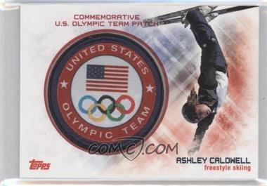 2014 Topps U.S. Olympic & Paralympic Team and Hopefuls - Commemorative U.S. Olympic Team Patch #USO-AC - Ashley Caldwell