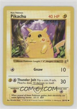 1999-2002 Pokemon Gold Stamp - Event Promos #58.2 - Pikachu (E3 Red Cheek)