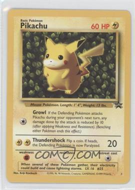 1999-2002 Pokemon Wizards of the Coast - Exclusive Black Star Promos #1 - Pikachu
