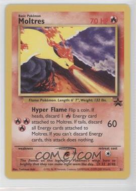 1999-2002 Pokemon Wizards of the Coast - Exclusive Black Star Promos #21 - Moltres