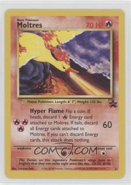 1999-2002 Pokemon Wizards of the Coast - Exclusive Black Star Promos #21 - Moltres