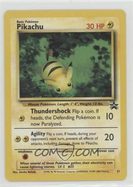 1999-2002 Pokemon Wizards of the Coast - Exclusive Black Star Promos #27 - Pikachu