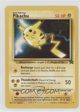 1999-2002 Pokemon Wizards of the Coast - Exclusive Black Star Promos #4 - Pikachu