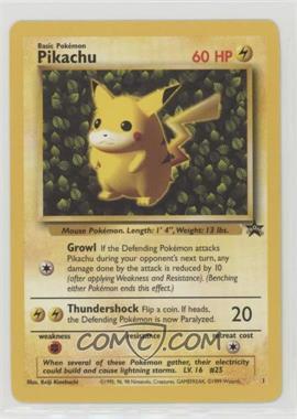 1999-2003 Pokemon Wizards of the Coast - Exclusive Black Star Promos #1.1 - Pikachu