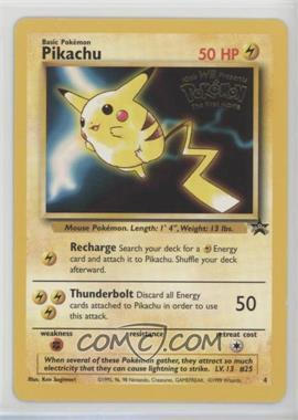 1999-2003 Pokemon Wizards of the Coast - Exclusive Black Star Promos #4.1 - Pikachu (Mewtwo Strikes Back)