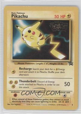 1999-2003 Pokemon Wizards of the Coast - Exclusive Black Star Promos #4.1 - Pikachu (Mewtwo Strikes Back) [Noted]