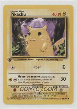 1999 Pokemon Base Set - [Base] - Spanish 1st Edition #58 - Pikachu (Yellow Cheeks)