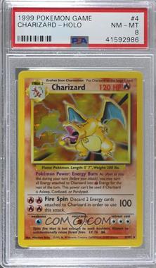 1999 Pokemon Base Set - [Base] - Unlimited #4 - Charizard [PSA8NM‑MT]