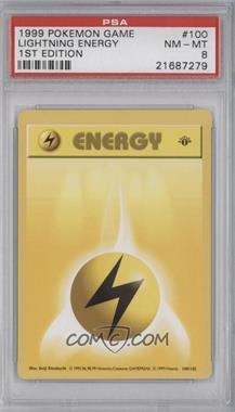 1999 Pokemon Base Set - Booster [Base] - 1st Edition #100 - Lightning Energy [PSA8]