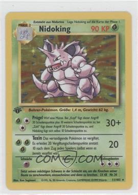 1999 Pokemon Base Set - Booster [Base] - German 1st Edition #11 - Nidoking
