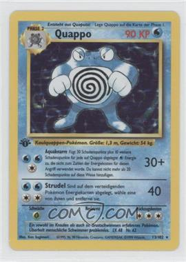 1999 Pokemon Base Set - Booster [Base] - German 1st Edition #13 - Poliwrath