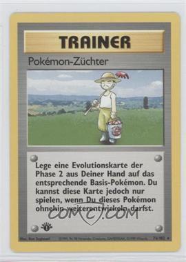 1999 Pokemon Base Set - Booster [Base] - German 1st Edition #76 - Pokemon Breeder