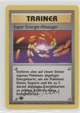 1999 Pokemon Base Set - Booster [Base] - German 1st Edition #79 - Super Energy Removal
