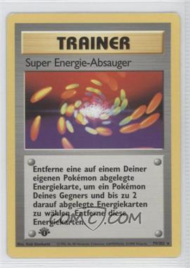 1999 Pokemon Base Set - Booster [Base] - German 1st Edition #79 - Super Energy Removal