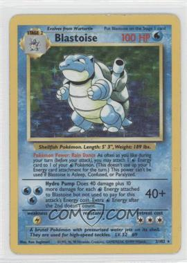 1999 Pokemon Base Set - Booster [Base] - Unlimited #2 - Blastoise