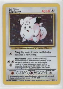 1999 Pokemon Base Set - Booster [Base] - Unlimited #5 - Clefairy