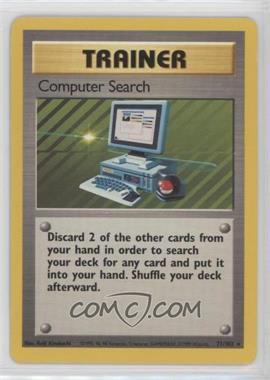 1999 Pokemon Base Set - Booster [Base] - Unlimited #71 - Computer Search