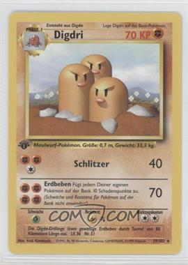 1999 Pokemon Base Set - Booster Pack [Base] - German 1st Edition #19 - Dugtrio