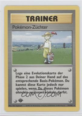 1999 Pokemon Base Set - Booster Pack [Base] - German 1st Edition #76 - Pokemon Breeder