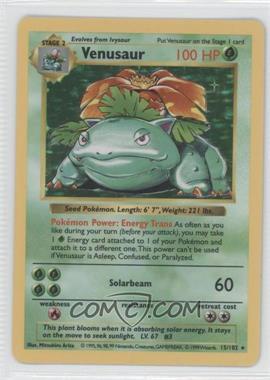 1999 Pokemon Base Set - Booster Pack [Base] - Shadowless #15 - Venusaur