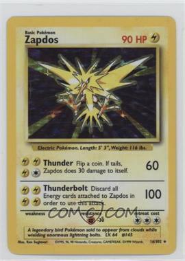 1999 Pokemon Base Set - Booster Pack [Base] - Unlimited #16 - Zapdos