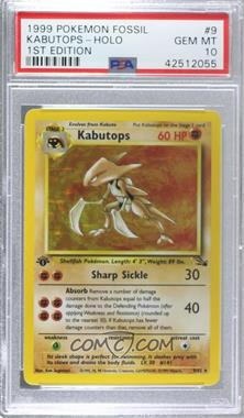 1999 Pokemon Fossil - [Base] - 1st Edition #9 - Kabutops [PSA 10 GEM MT]
