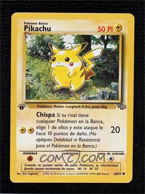 1999 Pokemon Jungle - [Base] - Spanish 1st Edition #60 - Pikachu