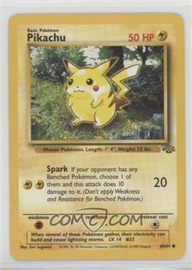 1999 Pokemon Jungle - [Base] - Unlimited #60 - Pikachu