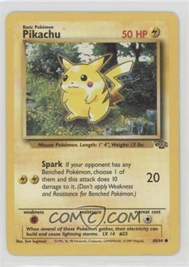 1999 Pokemon Jungle - [Base] - Unlimited #60 - Pikachu [Noted]