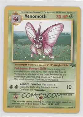 1999 Pokemon Jungle - Booster Pack [Base] - Unlimited #29 - Venomoth