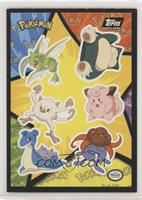 Scyther, Snorlax, Mankey, Clefairy, Lapras, Gloom