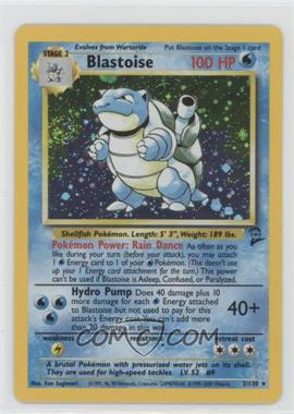 2000 Pokemon Base Set 2 - Booster Pack Reprint Set #2 - Blastoise